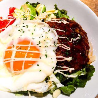 煮込みハンバーグのロコモコ丼(モナレコード おんがく食堂)