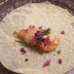 海老と小紫蘇のクレープ(中国料理MASUKI)