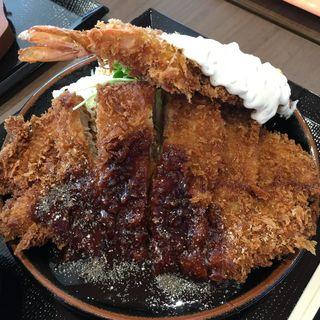 えび豚定食(かつ丼 トンテキ 豚屋とん一)
