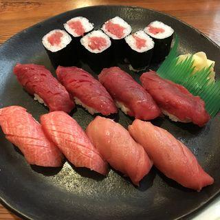 本鮪握り盛り合わせ(大間 浜寿司)