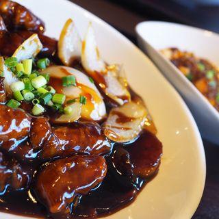 黒酢の酢豚(中華香彩JASMINE)