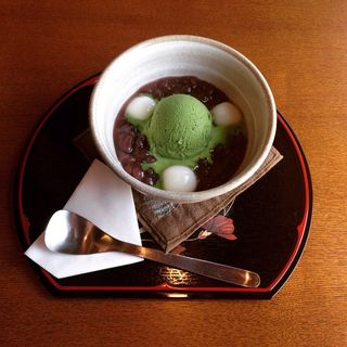 抹茶白玉ぜんざい(茶フェ ちゃきち )