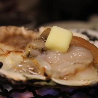 ホタテ殻焼き(三田魚介センター )