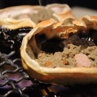 カニミソ 殻焼き