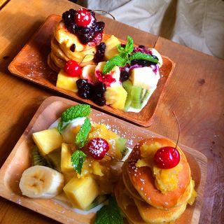 マロンとさつまいものパンケーキ(シェブロンカフェ (SHEVRON CAFE))