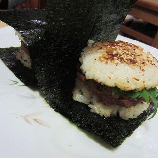 まぐろ味噌飯バーガー(蛇の目鮨本店 )