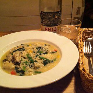ほうれん草と牡蠣のリゾット(cafe PICO)