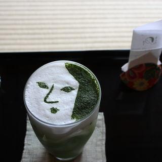 抹茶カプチーノ(アイス)(よーじやカフェ 銀閣寺店 )