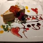 アールグレイのレアチーズケーキ(黒猫cafe)