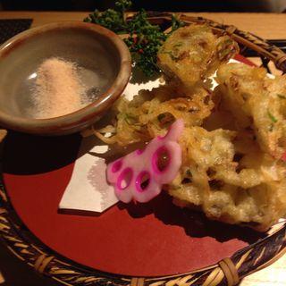 松茸と野菜のかき揚げ(川村料理平)