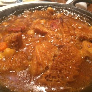 首都マドリッドの郷土料理 牛もつとお豆の煮込(エルマタドール )