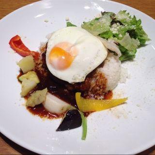 ハンバーグロコモコ(ラナイ カフェ イオンモール名古屋茶屋店)