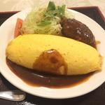 特製デミソースオムライス&ハンバーグ(グリル ロン 阪急三番街店)