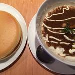 秋の根菜と3種のお豆が入ったブラックビーンズスープ
