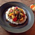 カブと彩り野菜の鶏そぼろカレー