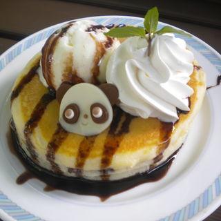パンダちゃんホットケーキ(上野動物園 西園食堂 )