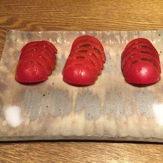冷やしトマト(フルーツトマト)(鉄板ビストロ★アカホシ (鉄板BISTRO★Akahoshi))