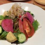 20種類以上の世界の野菜を使った季節のサラダ パシフィックリム仕立て