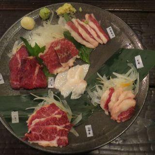 盛り合わせ(和み家 馬肉料理専門店)