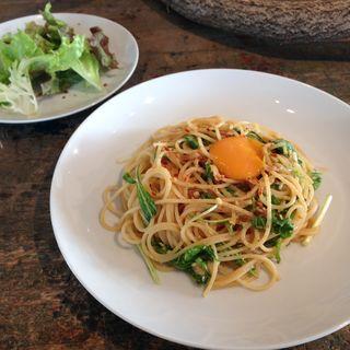 水菜と和凧カルボナーラ(cafe plateaux カフェ プラトー)