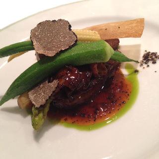 月替わりディナーコースのメイン 牛フィレステーキ(フレンチレストラン ジャマン)