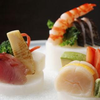 鮮魚の盛り合わせ(八彩懐石 長峰 (やさいかいせき ながみね))
