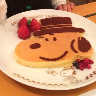 ドアマンスヌーピーのパンケーキ(フライングトマトカフェ )