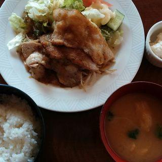 ステーキソース定食(藤咲)