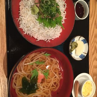 ネギトロ釜揚げしらす丼セット(たちばな グランフロント大阪 )