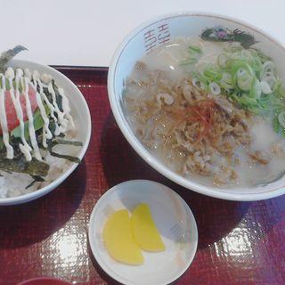 淡路牛ラーメン明太子ごはんセット(ラーメン尊)