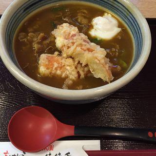 牛肉カレーうどん+ちくわの天ぷら(京のカレーうどん 味味香)