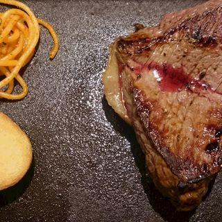 熟成牛サービスステーキランチ(Gottie's BEEF)