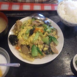 豚肉ときくらげ卵炒めランチ(富貴)