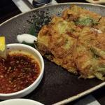 しらすと青ねぎのチヂミ(韓国料理サラン)