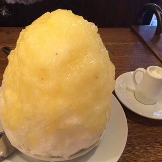 カキ氷日向夏 レモンミルク添え(セバスチャン)