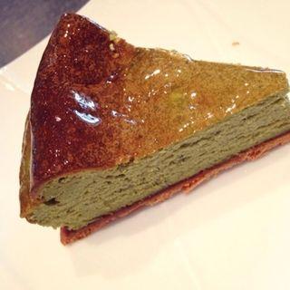 抹茶のベイクドチーズタルト(茶-cafe)