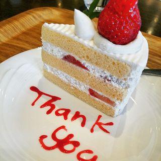 いちごのショートケーキ(シーサイドカフェ)