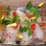 真鯛のカルパッチョ 柚子風味