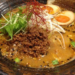 坦々麺、香味たまご(香氣 四川麺条 祖師ヶ谷大蔵店)