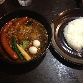 キーマナットカリー・イベリコ豚のソーセージ(トッピング)(curry&cefe SAMA)