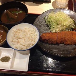 牛ロースカツ定食(勝牛 京都駅前店)