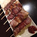 おすすめ串焼き6本盛り(ササミ、砂肝、ぽんじり、ハツ、豚串、豚タン)(一献 朝霞台)