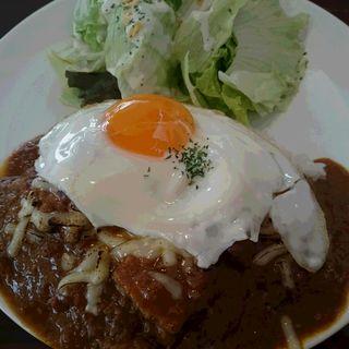 """焼きチーズとチキンの""""Ritz""""カレー(Tokyo Ritz Cafe)"""