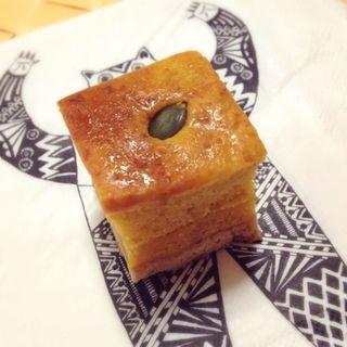 南瓜ピーナッツバターケーキ(つくりて)