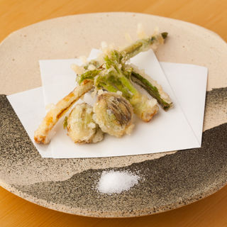 山菜の天麩羅(阿佐谷いわま )