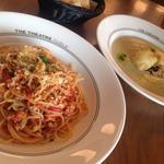 マグロのシチリア風トマトラグーソース スパゲッティーニ