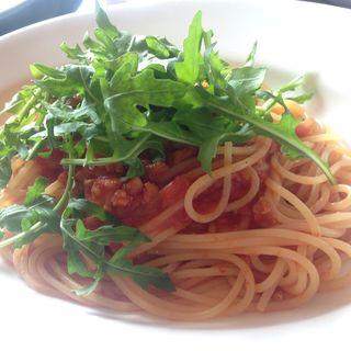たこと有機ルッコラのトマトソーススパゲティ(セントベーネ (Sento Bene))