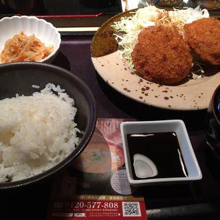 カニクリームコロッケ定食(やまや 新橋銀座口店 )