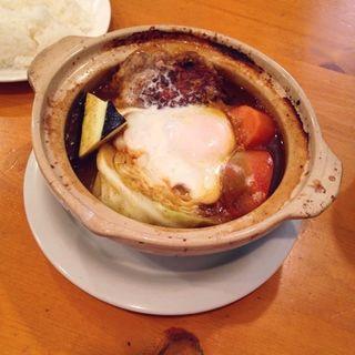土鍋煮込みカレーハンバーグ(キッチン Oh!Way (キッチンオーウェイ))