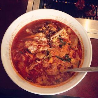 テグタン麺(梨花園)